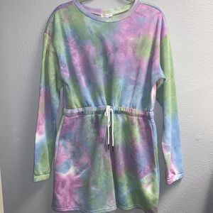 New Tied Dyed Sweatsuit Dress